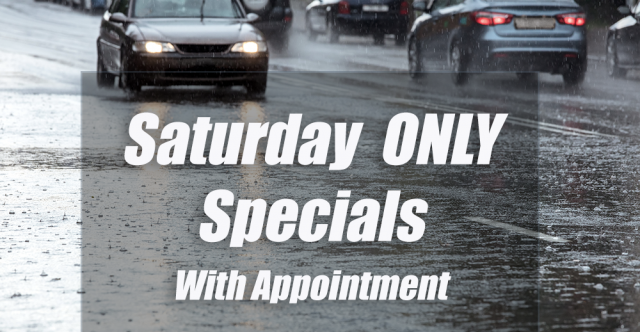 Take Advantage Of Saturday-Only Service Specials